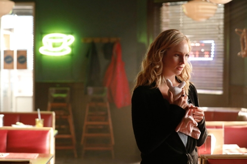 "The Vampire Diaries -- ""Detoured on Some Random Backwoods Path to Hell"" --Image Number: VD806A_0238.jpg -- Pictured: Candice King as Caroline -- Photo: Bob Mahoney/The CW -- © 2016 The CW Network, LLC. All rights reserved."