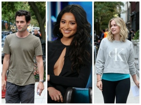 "News | Prime Foto Di Penn Badgley, Shay Mitchell Ed Elizabeth Lail Dal Set Di ""You"""